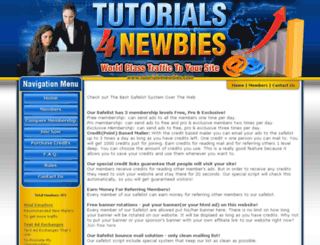 tutorials4newbies.com screenshot