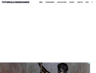 tutorialsbookmarks.com screenshot