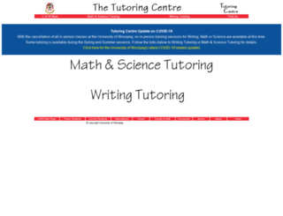 tutoringcentre.uwinnipeg.ca screenshot