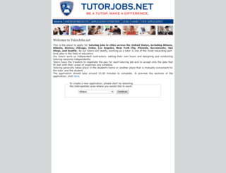 tutorjobs.net screenshot