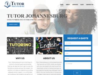 tutorjohannesburg.co.za screenshot