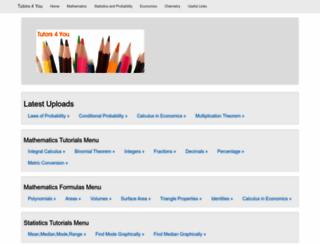 tutors4you.com screenshot