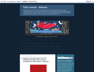 tuttiabordo-dislessia.blogspot.it screenshot