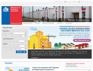 tuvivienda.minvu.cl screenshot