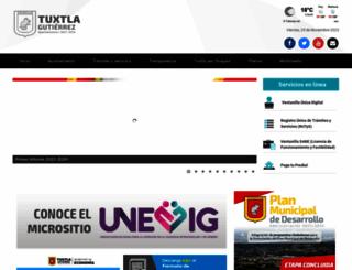 tuxtla.gob.mx screenshot