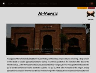 tv-almawrid.org screenshot