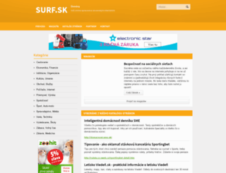 tv-program.surf.sk screenshot