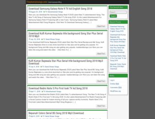 tvadserialsongs.com screenshot