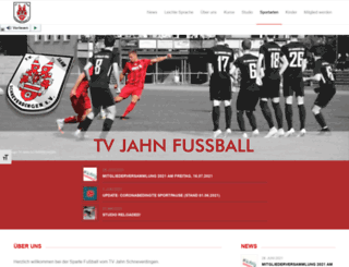 tvjahn-fussball.de screenshot
