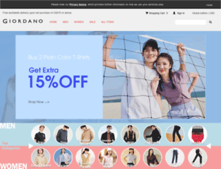 tw.giordano.com screenshot