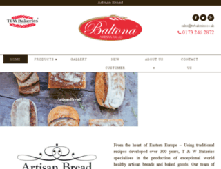 twbakeries.co.uk screenshot