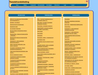tweedehandskleding.allepaginas.nl screenshot
