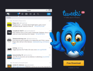 tweekiapp.com screenshot