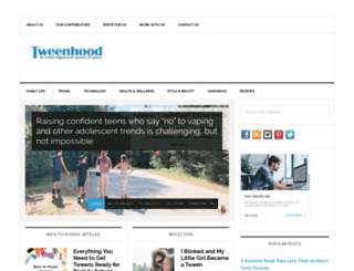 tweenhood.ca screenshot