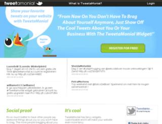 tweetamonial.com screenshot