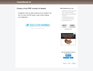 tweetbook.in screenshot