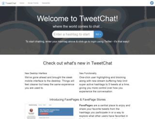 tweetchat.com screenshot