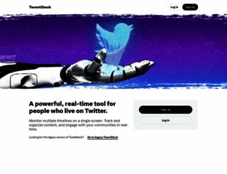 tweetdeck.com screenshot