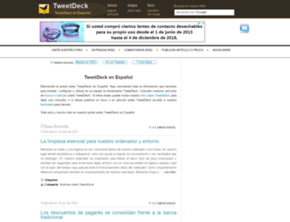 tweetdeck.es screenshot