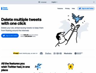 tweetdeleter.com screenshot