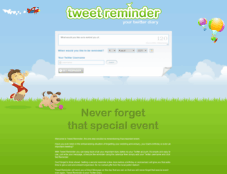 tweetreminder.com screenshot
