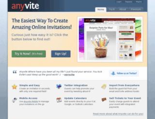 tweetvite.net screenshot