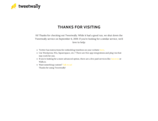 tweetwally.com screenshot