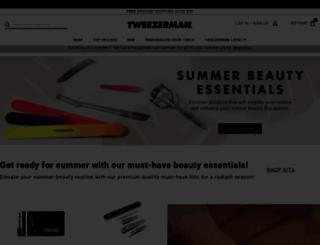 tweezerman.com screenshot