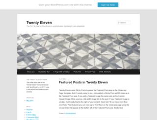 twentyelevendemo.wordpress.com screenshot