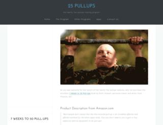 twentyfivepullups.com screenshot