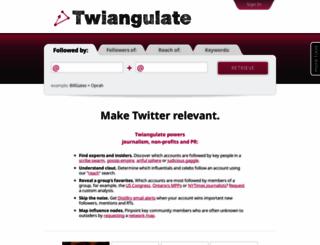 twiangulate.com screenshot