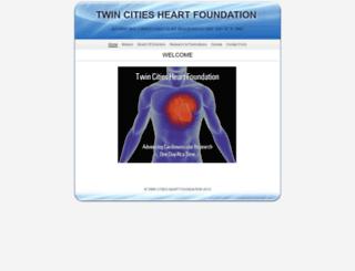 twincitiesheartfoundation.net screenshot