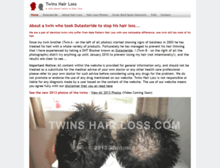 twinshairloss.com screenshot
