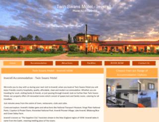 twinswansmotel.com.au screenshot