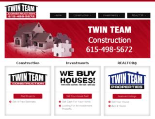 twinteamconstruction.com screenshot