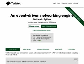 twistedmatrix.com screenshot