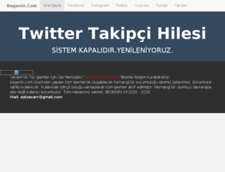 twitter.begenin.com screenshot
