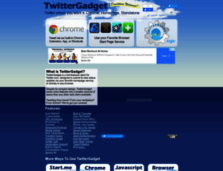 twittergadget.com screenshot
