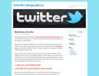 twittermicrobloggingmoney.wordpress.com screenshot