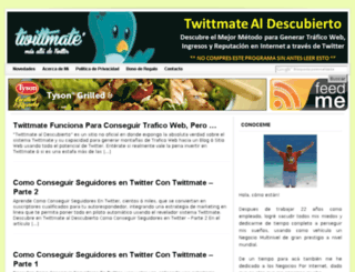 twittmatealdescubierto.com screenshot