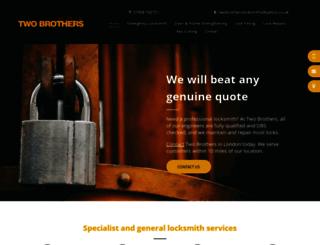 twobrotherslocksmithslondon.co.uk screenshot