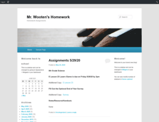 twooten.edublogs.org screenshot
