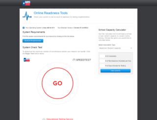 tx-bandwidth.caltesting.org screenshot