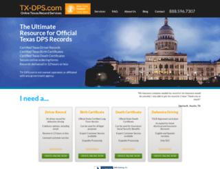 tx-dps.com screenshot