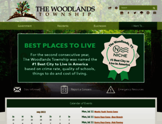 tx-thewoodlandstownship2.civicplus.com screenshot