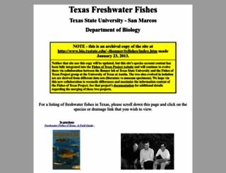 txstate.fishesoftexas.org screenshot