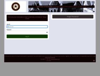 txstate.sona-systems.com screenshot