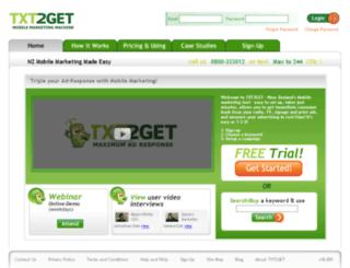 txt2get.com.au screenshot