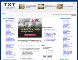 txtinsanity.com screenshot
