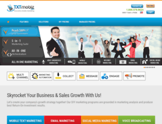 txtmobiz.com screenshot